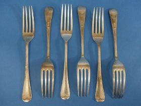 A set of six Elizabeth II silver Dessert Forks, by Cooper Brothers & Sons Ltd., hallmarked