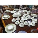 A Royal Doulton part Dinner and Tea Service, the service comprising six Dinner Plates, six Dessert