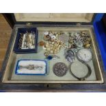 A quantity of Costume Jewellery, including some silver, including freshwater pearl necklaces,
