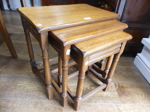 A good quality modern oak nest of Tables.