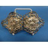 A late Victorian silver Belt Buckle, by William Comyns & Sons Ltd., hallmarked London, 1897, pierced