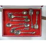 A quantity of Metalwares; comprising a silver Lincoln Imp spoon, several continental silver