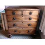 An antique Chest of Drawers, 39in (99cm) wide x 19in (48.25cm) deep x 43in (109cm) high.