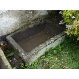 An antique granite rectangular Trough, large, 50in long x 30in wide (127cm x 76cm). Note; This lot