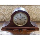An early 20thC 'Napoleon hat' Mantel Clock.