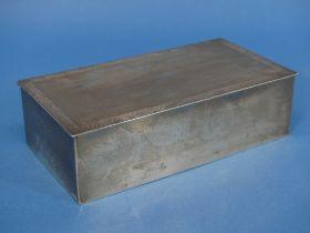 An Edward VIII silver Cigarette Box, by Adie Brothers Ltd., hallmarked Birmingham, 1936, of hinged
