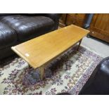 A retro G-Plan teak coffee Table, together with a Myers teak coffee table (2)