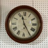A circular Wall Clock, signed Abell Ventnor, together with an Edwardian mahogany mantel clock and an