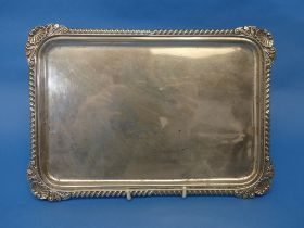 An Edwardian silver Tray, by Harrison Brothers & Howson, hallmarked Sheffield, 1903, of