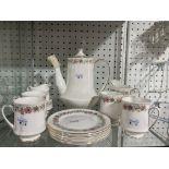 A Paragon bone china 'Belinda' pattern 36-piece part tea and coffee service, comprising a tea pot,