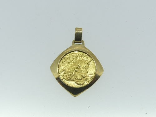 A South African 1/10 ounce gold 'Natura' series Coin, dated 1998, with leopard design, in a 9ct