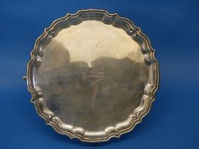 An Edwardian silver Salver, by Barker Brothers, hallmarked Chester, 1909, of shaped circular form,