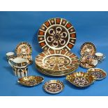 A set of six Royal Crown Derby Imari 2451 pattern Coffee Cans and Saucers, together with a set of