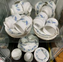 A Royal Standard 'Trend' pattern Part Tea and Coffee Service, comprising six Tea Cups, four Coffee