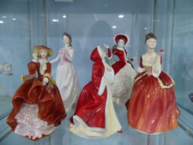 A small quantity of Royal Doulton Ladies; comprising 'Top of the Hill', 'Flower of Love', 'Victorian