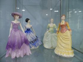 A small quantity of Coalport 'Ladies of Fashion';including 'Annabelle', 'Maureen' and '