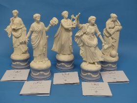 A quantity of Wedgwood; The Classical Muses Collection,comprisingCallilope 84/12500; Thalia 257/