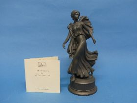 A Wedgwood 'Dancing Hours' figure in Black Porcelain, titled 'The Third Figure', depicting a dancing