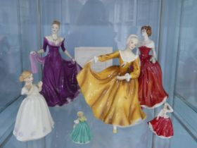 A small quantity of Royal Doulton Ladies;comprising 'Ellie' Royal Doulton Lady of the Year 2003,