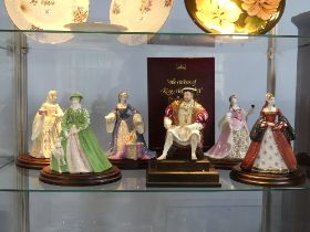 Wedgwood; Henry VIII and Wives Collection; comprising Henry VIII, on plinth, limited edition