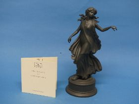 A Wedgwood 'Dancing Hours' figure in Black Porcelain, titled 'The Fourth Figure', depicting a