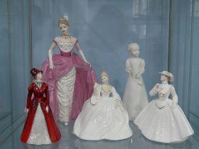 A small quantity of Coalport Ladies;comprising 'Millenium Debut' Limited Edition number 6754/