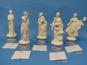 A quantity of Wedgwood; The Classical Muses Collection, comprisingEuterpe 179/12500; Callilope