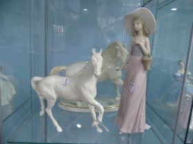 A Beswick 'Spirit of the Wind' Horse,with mark to base, together with a Mideramica Horse on a