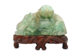 A CHINESE HARDSTONE CARVING OF BUDAI HESHANG.