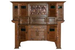 A LARGE ARTS AND CRAFTS OAK DRESSER, ATTRIBUTED SHAPLAND AND PETTER,