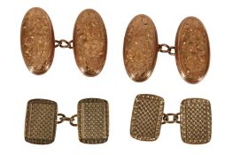 TWO SETS OF GOLD CUFFLINKS