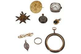 A COLLECTION OF JEWELLERY, COSTUME JEWELLERY AND WATCHES
