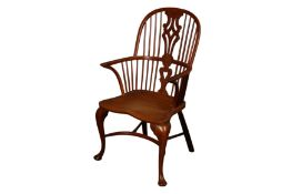 AN ELM AND YEW WINDSOR CHAIR BY H. ERNEST GOODCHILD