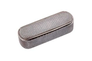 A mid-19th century French silver and niello snuff box, circa 1860 with later Swedish marks for Stock