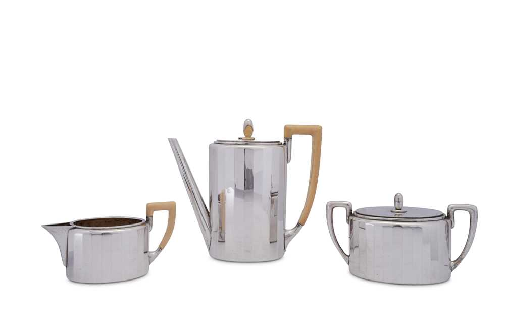 An early 20th century Austrian 800 standard silver three-piece coffee service, Vienna circa 1930 by - Image 10 of 10