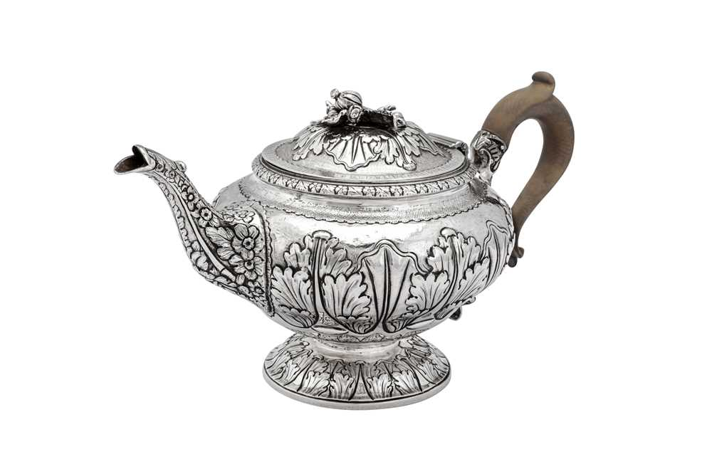 A George III sterling silver three-piece tea service, London 1817 by Joseph Biggs or John Booth - Image 3 of 4