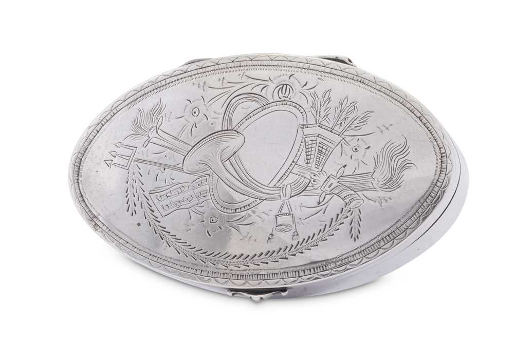 An early 19th century unmarked silver snuff box, probably German date 1820 - Image 2 of 3