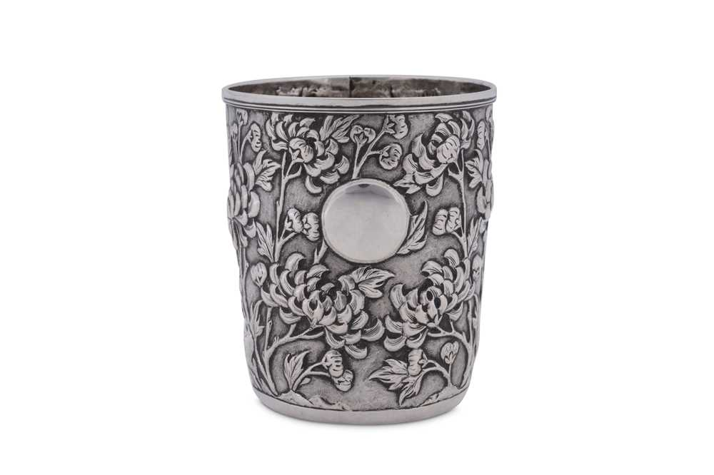An early 20th century Chinese Export silver beaker, Shanghai circa 1900 retailed by Tuck Chang