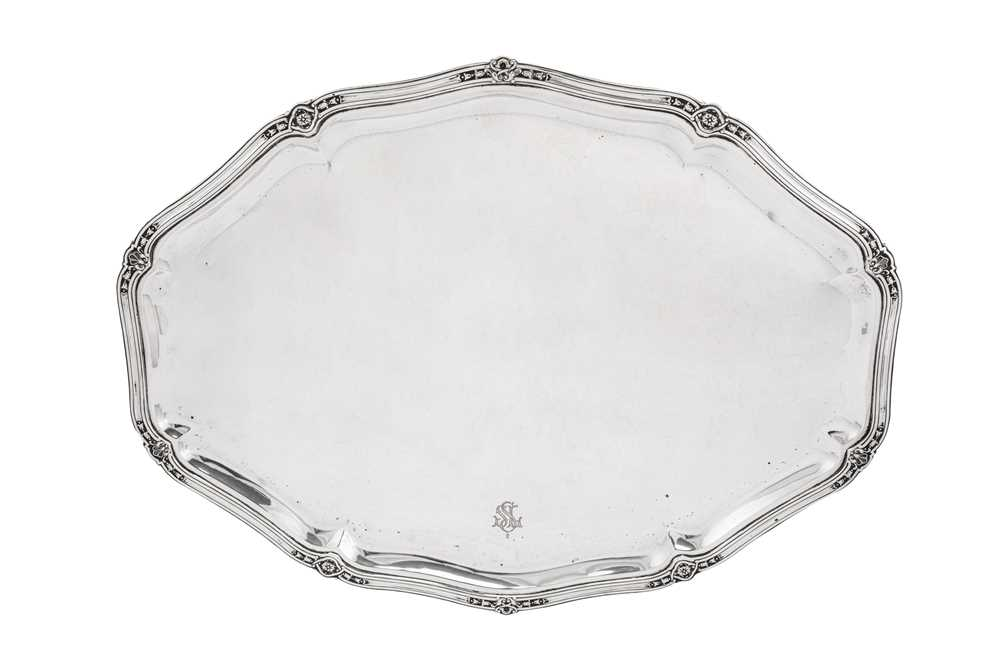 An early 20th century German 800 standard silver five-piece tea and coffee service on tray, Heilbron - Image 9 of 9