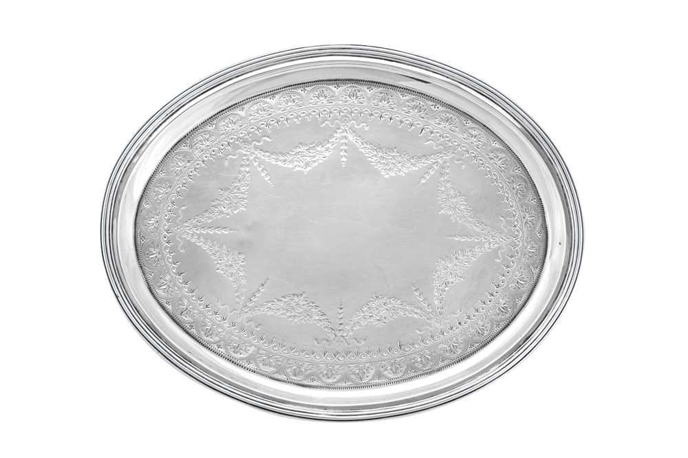 A George III Scottish sterling silver salver, Edinburgh 1804 by George McHattie and George Fenwick ( - Image 3 of 4