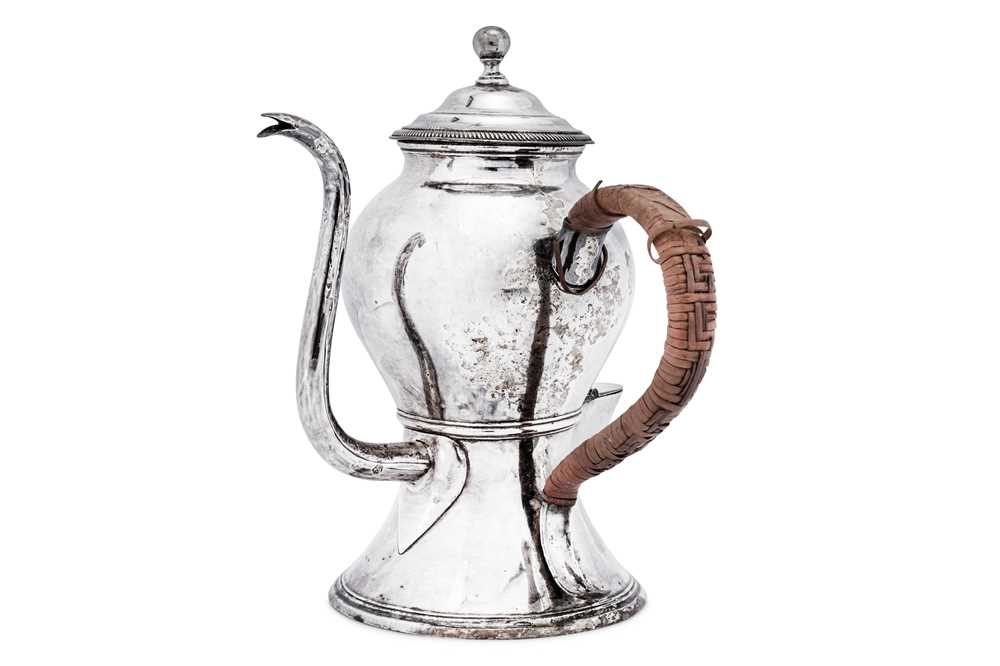 A George III Old Sheffield Silver Plate argyle, Sheffield circa 1770 by Tudor and Leader - Image 3 of 3