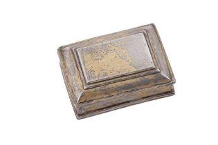 A mid-18th century Spanish Colonial unmarked silver gilt snuff box, circa 1730-50