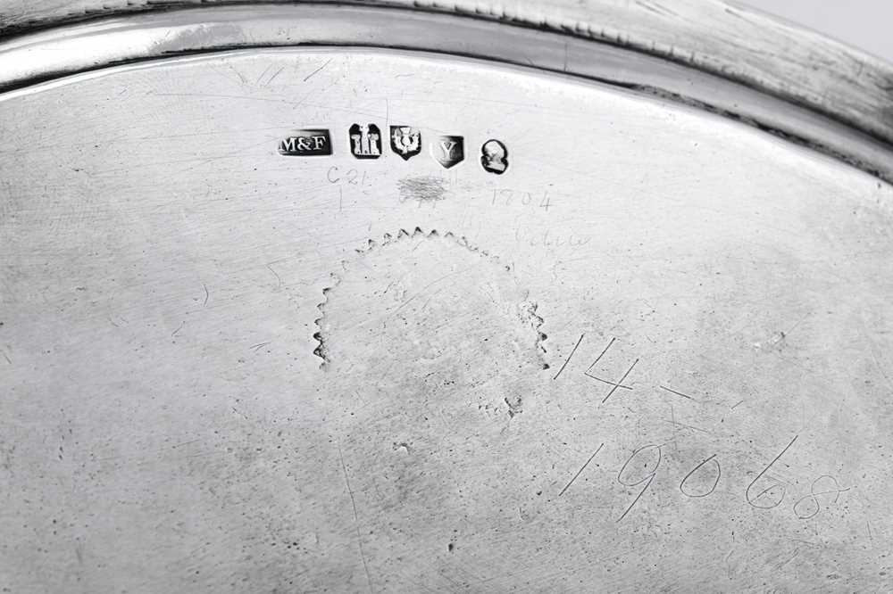 A George III Scottish sterling silver salver, Edinburgh 1804 by George McHattie and George Fenwick ( - Image 2 of 4