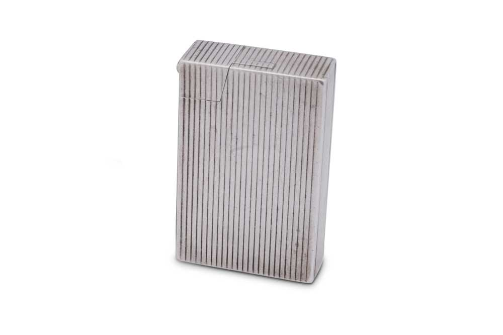 A George VI sterling silver lighter, Birmingham 1950 by Bach & Cooper