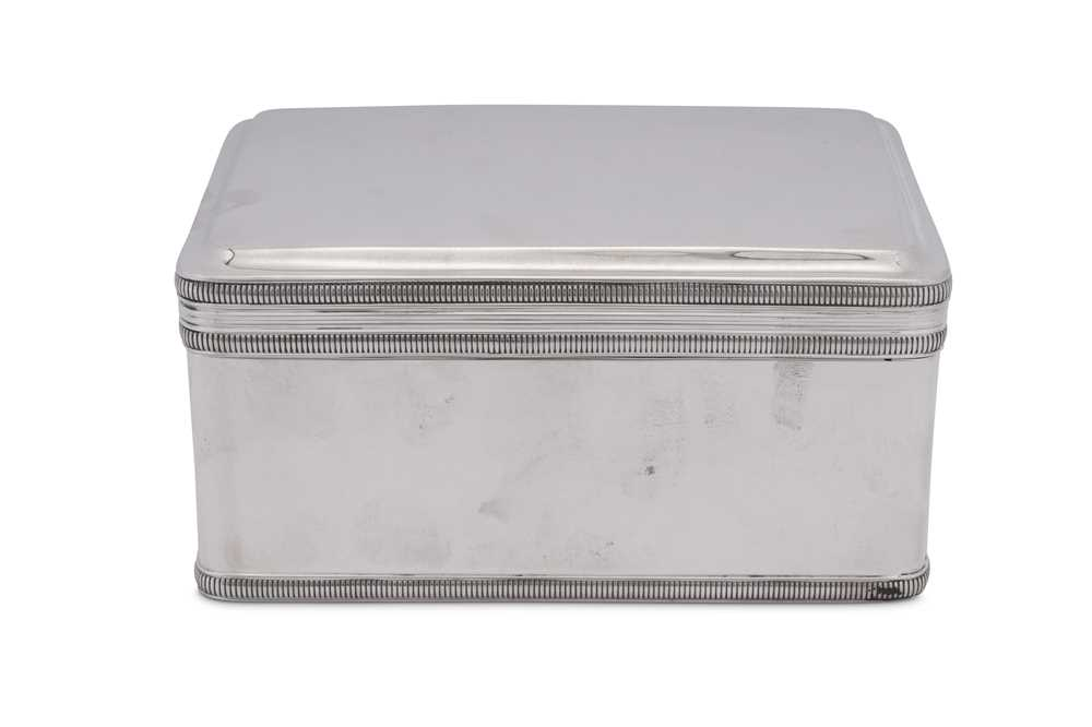 A mid-19th century Dutch 833 standard silver biscuit box, Amsterdam 1852 by Andries Roelofs (active