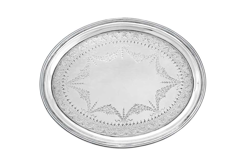 A George III Scottish sterling silver salver, Edinburgh 1804 by George McHattie and George Fenwick ( - Image 4 of 4