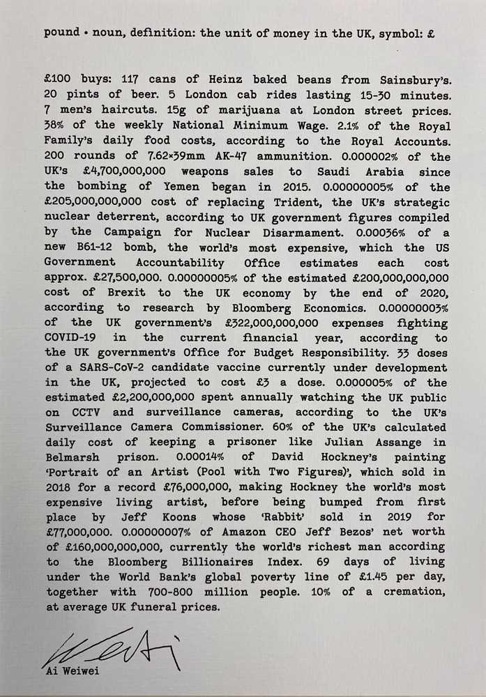 AI WEIWEI (CHINESE B. 1957)