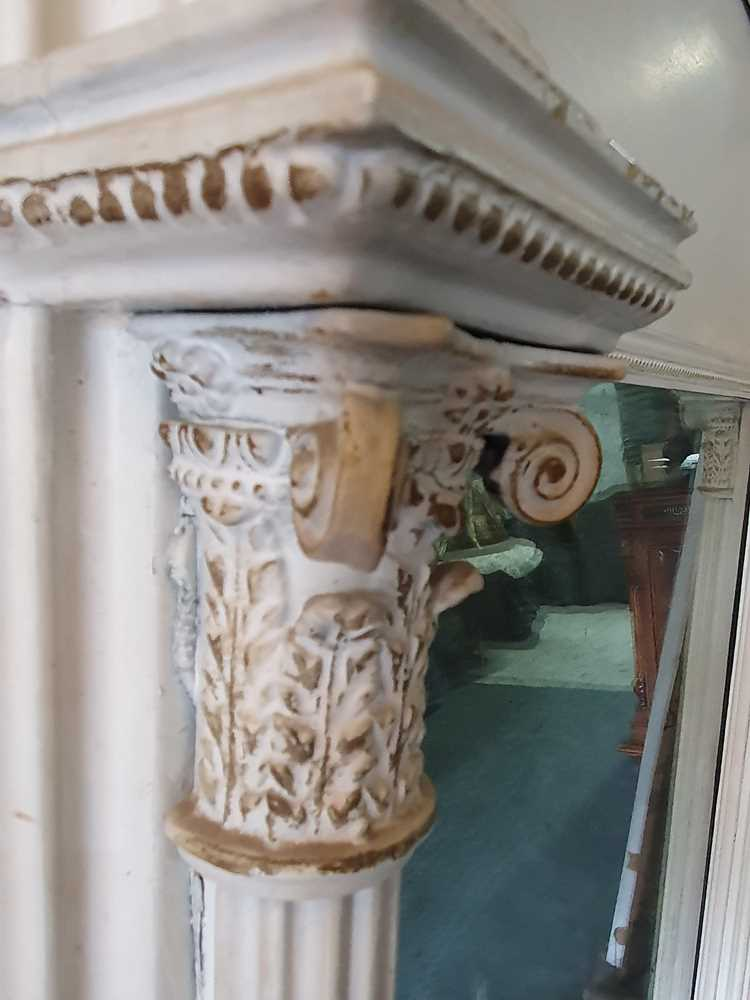A REGENCY WHITE PAINTED AND PARCEL GILT PIER MIRROR, CIRCA 1830S AND LATER - Image 3 of 10