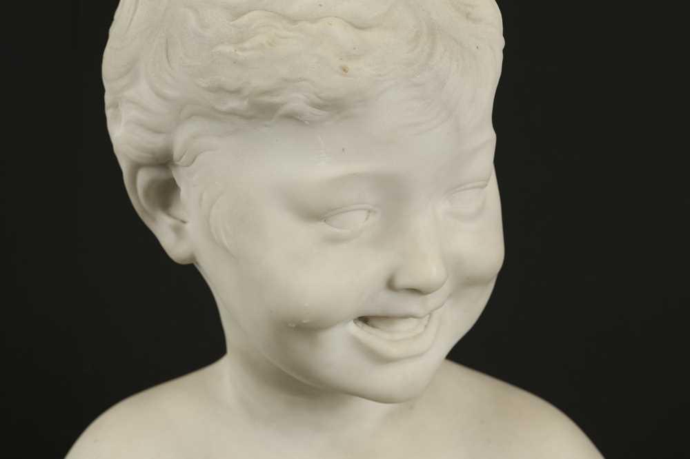 AFTER DESIDERIO DA SETTIGNANO (ITALIAN, 1428-1464) A CARRARA MARBLE BUST OF A BOY - Image 4 of 6