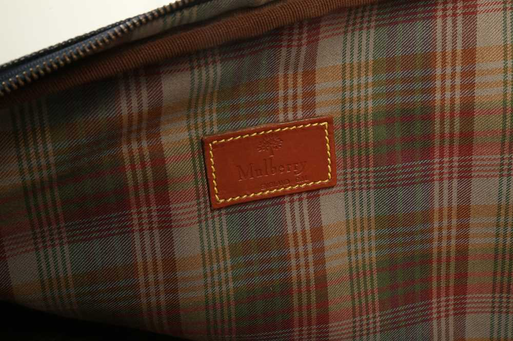 Two Vintage Suitcases Burberry Nova check and Mulberry - Image 9 of 10